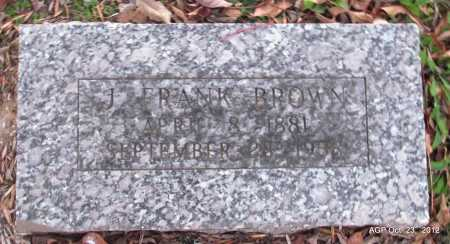 BROWN, J FRANK - Randolph County, Arkansas | J FRANK BROWN - Arkansas Gravestone Photos