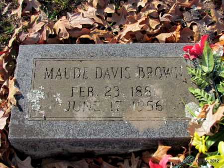 DAVIS BROWN, MAUDE - Randolph County, Arkansas | MAUDE DAVIS BROWN - Arkansas Gravestone Photos