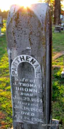 BROWN, PARTHENA E - Randolph County, Arkansas | PARTHENA E BROWN - Arkansas Gravestone Photos