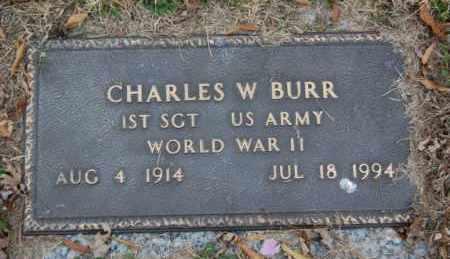 BURR (VETERAN WWII), CHARLES W - Randolph County, Arkansas | CHARLES W BURR (VETERAN WWII) - Arkansas Gravestone Photos