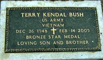 BUSH, TERRY KENDAL - Randolph County, Arkansas | TERRY KENDAL BUSH - Arkansas Gravestone Photos