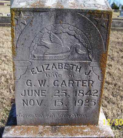 CARTER, ELIZABETH J. - Randolph County, Arkansas   ELIZABETH J. CARTER - Arkansas Gravestone Photos
