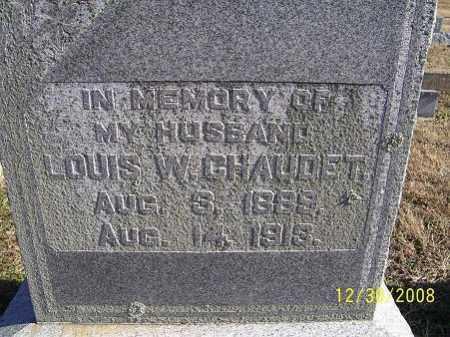 CHAUDET, LOUIS W. - Randolph County, Arkansas | LOUIS W. CHAUDET - Arkansas Gravestone Photos