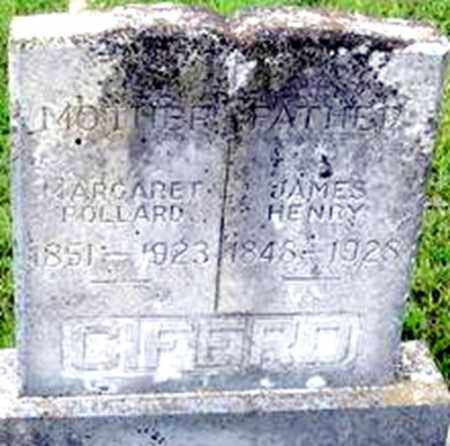 CIFERD, JAMES HENRY - Randolph County, Arkansas | JAMES HENRY CIFERD - Arkansas Gravestone Photos