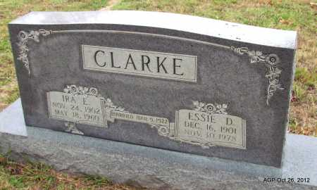 CLARKE, IRA E - Randolph County, Arkansas | IRA E CLARKE - Arkansas Gravestone Photos