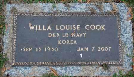 COOK (VETERAN KOR), WILLA LOUISE - Randolph County, Arkansas | WILLA LOUISE COOK (VETERAN KOR) - Arkansas Gravestone Photos