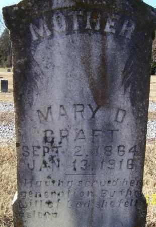CRAFT, MARY D. - Randolph County, Arkansas | MARY D. CRAFT - Arkansas Gravestone Photos