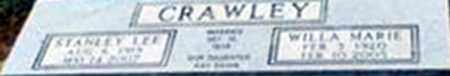 CRAWLEY, STANLEY LEE - Randolph County, Arkansas | STANLEY LEE CRAWLEY - Arkansas Gravestone Photos