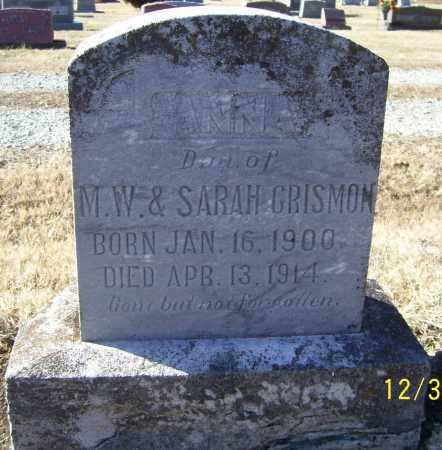 CRISMON, ANNA - Randolph County, Arkansas   ANNA CRISMON - Arkansas Gravestone Photos