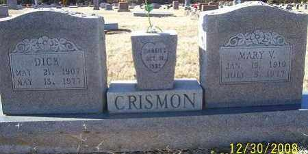 CRISMON, MARY V. - Randolph County, Arkansas | MARY V. CRISMON - Arkansas Gravestone Photos