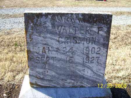 CRISMON, WALTER F. - Randolph County, Arkansas   WALTER F. CRISMON - Arkansas Gravestone Photos