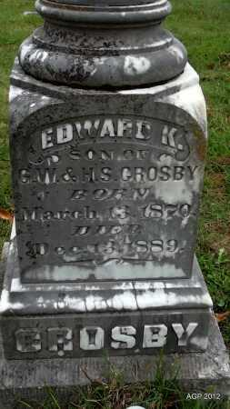 CROSBY, EDWARD K (CLOSE UP) - Randolph County, Arkansas | EDWARD K (CLOSE UP) CROSBY - Arkansas Gravestone Photos