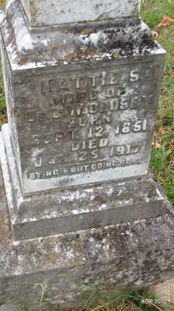 KIBLER CROSBY, HATTIE S (CLOSEUP) - Randolph County, Arkansas   HATTIE S (CLOSEUP) KIBLER CROSBY - Arkansas Gravestone Photos