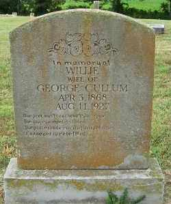 CULLUM, WILLIE - Randolph County, Arkansas | WILLIE CULLUM - Arkansas Gravestone Photos