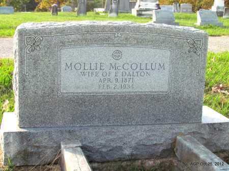"MCCOLLUM DALTON, MARY ELIZABETH ""MOLLIE"" - Randolph County, Arkansas | MARY ELIZABETH ""MOLLIE"" MCCOLLUM DALTON - Arkansas Gravestone Photos"