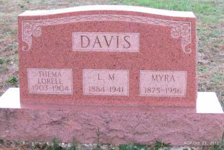 DAVIS, L M - Randolph County, Arkansas | L M DAVIS - Arkansas Gravestone Photos
