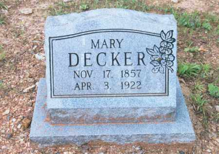DECKER, MARY - Randolph County, Arkansas | MARY DECKER - Arkansas Gravestone Photos