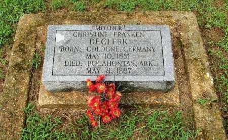 FRANKEN DECLERK, CHRISTINE - Randolph County, Arkansas | CHRISTINE FRANKEN DECLERK - Arkansas Gravestone Photos