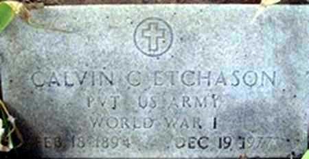 ETCHASON (VETERAN WWI), CALVIN C. - Randolph County, Arkansas | CALVIN C. ETCHASON (VETERAN WWI) - Arkansas Gravestone Photos