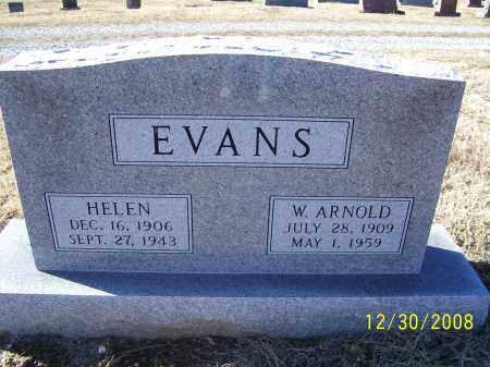 EVANS, HELEN EMILY - Randolph County, Arkansas | HELEN EMILY EVANS - Arkansas Gravestone Photos
