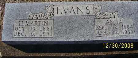 EVANS, H .MARTIN - Randolph County, Arkansas | H .MARTIN EVANS - Arkansas Gravestone Photos