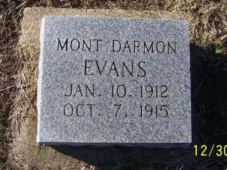 EVANS, MONT DARMON - Randolph County, Arkansas | MONT DARMON EVANS - Arkansas Gravestone Photos