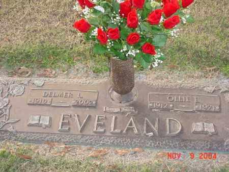 RUSSELL EVELAND, OLLIE E - Randolph County, Arkansas | OLLIE E RUSSELL EVELAND - Arkansas Gravestone Photos