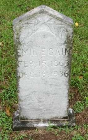 GAIN, EMILIE - Randolph County, Arkansas | EMILIE GAIN - Arkansas Gravestone Photos