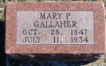 GALLAHER, MARY P. - Randolph County, Arkansas | MARY P. GALLAHER - Arkansas Gravestone Photos