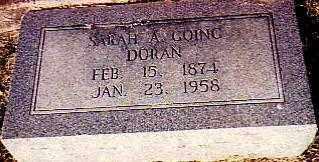 "LOONEY GOING - DORAN, SARAH ANN ""SALLIE"" - Randolph County, Arkansas | SARAH ANN ""SALLIE"" LOONEY GOING - DORAN - Arkansas Gravestone Photos"