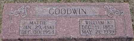 GOODWIN, WILLIAM A - Randolph County, Arkansas | WILLIAM A GOODWIN - Arkansas Gravestone Photos