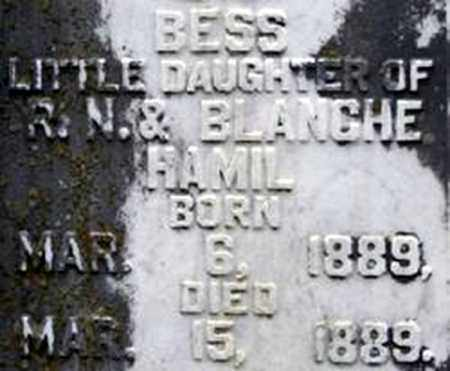HAMIL, BESS - Randolph County, Arkansas   BESS HAMIL - Arkansas Gravestone Photos