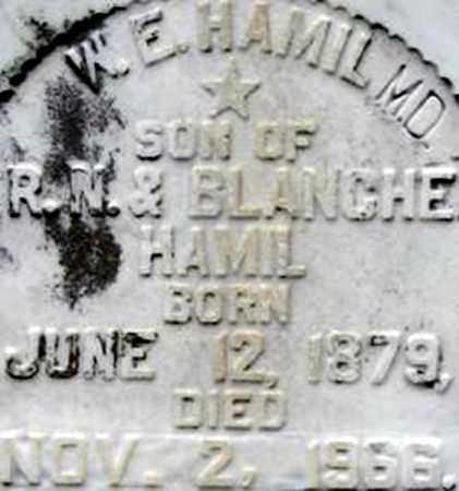 HAMIL, DR W E - Randolph County, Arkansas   DR W E HAMIL - Arkansas Gravestone Photos