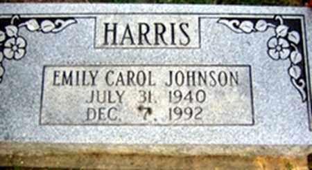 JOHNSON HARRIS, EMILY CARROL - Randolph County, Arkansas | EMILY CARROL JOHNSON HARRIS - Arkansas Gravestone Photos