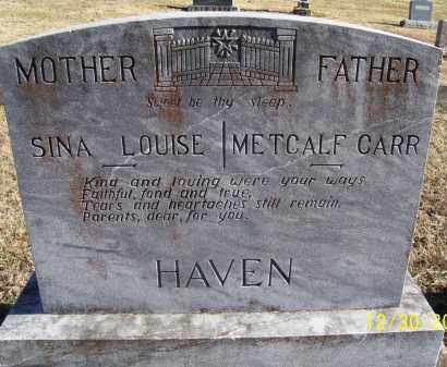HAVEN, SINA LOUISE - Randolph County, Arkansas | SINA LOUISE HAVEN - Arkansas Gravestone Photos
