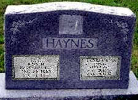 KNOTTS HAYNES, ELMYRA VIRGINIA - Randolph County, Arkansas   ELMYRA VIRGINIA KNOTTS HAYNES - Arkansas Gravestone Photos