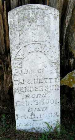 HENDERSON, ANY MABELL - Randolph County, Arkansas   ANY MABELL HENDERSON - Arkansas Gravestone Photos