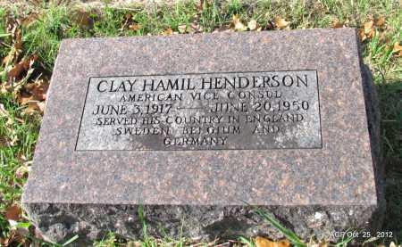 HENDERSON (VETERAN), CLAY HAMIL - Randolph County, Arkansas | CLAY HAMIL HENDERSON (VETERAN) - Arkansas Gravestone Photos