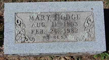 HODGE, MARY - Randolph County, Arkansas   MARY HODGE - Arkansas Gravestone Photos