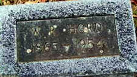 HORD, SR., WILLIAM REED - Randolph County, Arkansas   WILLIAM REED HORD, SR. - Arkansas Gravestone Photos