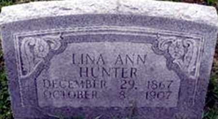 HUNTER, LINA ANN - Randolph County, Arkansas   LINA ANN HUNTER - Arkansas Gravestone Photos