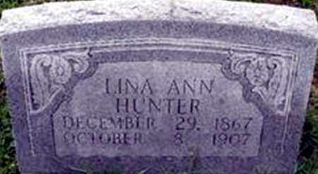 HUNTER, LINA ANN - Randolph County, Arkansas | LINA ANN HUNTER - Arkansas Gravestone Photos