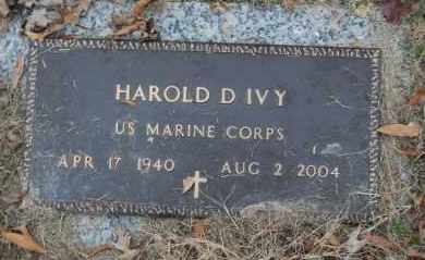 IVY (VETERAN), HAROLD D - Randolph County, Arkansas | HAROLD D IVY (VETERAN) - Arkansas Gravestone Photos