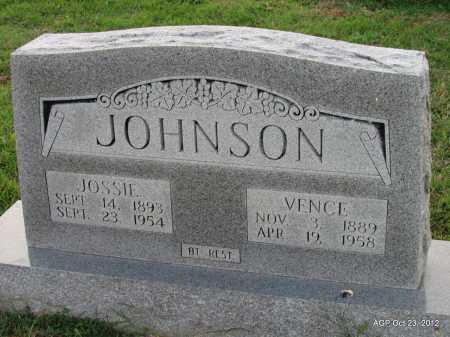 MCELMURRY JOHNSON, JOSEPHINE MALISSA ''JOSSIE'' - Randolph County, Arkansas | JOSEPHINE MALISSA ''JOSSIE'' MCELMURRY JOHNSON - Arkansas Gravestone Photos
