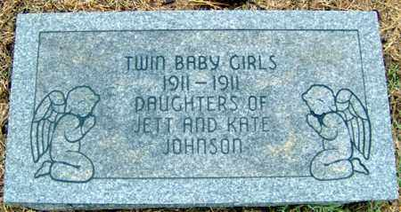 JOHNSON, TWIN BABY GIRLS - Randolph County, Arkansas | TWIN BABY GIRLS JOHNSON - Arkansas Gravestone Photos