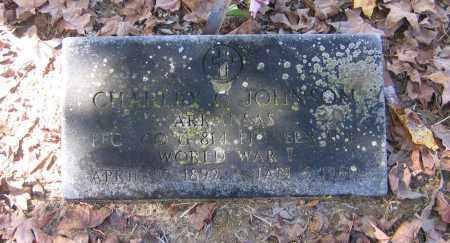 JOHNSON (VETERAN WWI), CHARLEY C - Randolph County, Arkansas   CHARLEY C JOHNSON (VETERAN WWI) - Arkansas Gravestone Photos