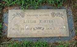 KIEFER, LILLIE - Randolph County, Arkansas | LILLIE KIEFER - Arkansas Gravestone Photos