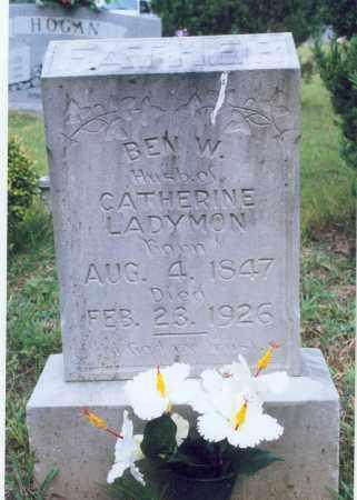 LADYMON, BEN W. - Randolph County, Arkansas | BEN W. LADYMON - Arkansas Gravestone Photos