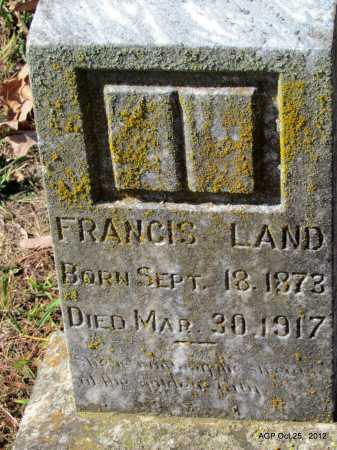 LAND, FRANCIS - Randolph County, Arkansas   FRANCIS LAND - Arkansas Gravestone Photos