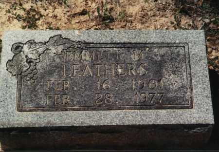 M LEATHERS, EMMITT - Randolph County, Arkansas   EMMITT M LEATHERS - Arkansas Gravestone Photos